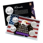 Nebraska Series 1 & 2 - Four Piece Quarter Set - Platinum Plated