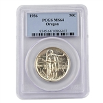 Oregon Trail Commemorative Half Dollar - Certified 64