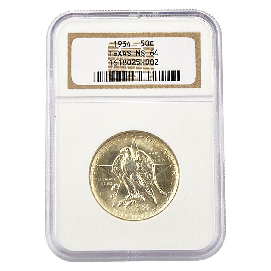 Texas Commemorative Half Dollar - Certified 64
