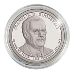 2014 Franklin D. Roosevelt Presidential Dollar - Philadelphia - Platinum Plated in a Capsule