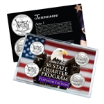 Tennessee Series 1 & 2 - 4pc Quarter Set- Platinum
