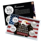 Tennessee Series 1 & 2 - 4pc Quarter Set- Uncirculated
