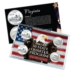 Virginia Series 1 & 2 - 4pc Quarter Set- UNC