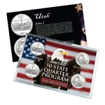 Utah Series 1 & 2 - 4pc Quarter Set - Uncirculated