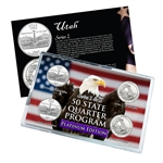 Utah Series 1 & 2 - 4pc Quarter Set - Platinum
