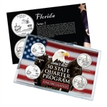 Florida Series 1 & 2 - 4pc Quarter Set - Uncirculated