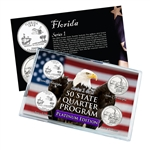 Florida Series 1 & 2 - 4pc Quarter Set - Platinum
