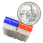 2014 Florida Everglades National Park Quarter - Philadelphia and Denver - Uncirculated Roll Pair