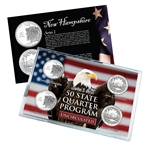 2013 New Hampshire Series 1 & 2 - 4 Piece Quarter Set - Unc