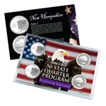 2013 New Hampshire Series 1 & 2 - 4 Piece Quarter Set - Platinum Plated