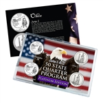 Ohio Series 1 & 2 - 4pc Quarter Set- Platinum