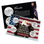 Nevada Series 1 & 2 - 4pc Quarter Set- UNC