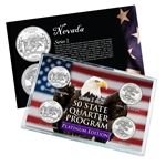 Nevada Series 1 & 2 - 4pc Quarter Set-  Platinum