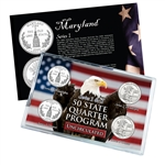 Maryland Series 1 & 2 - 4pc Quarter Set- UNC