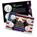 Maryland Series 1 & 2 - 4pc Quarter Set- Platinum