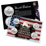 South Dakota Series 1 & 2 - 4pc Quarter Set- UNC
