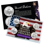 South Dakota Series 1 & 2 - 4pc Quarter Set- Platinum