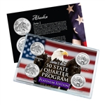 Alaska Series 1 & 2 - 4pc Quarter Set- Platinum