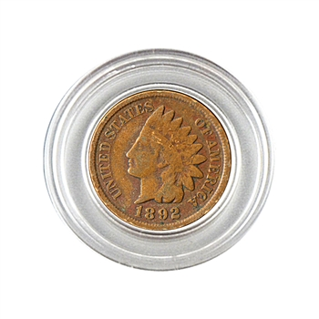 1892 Indian Head Cent - Circulated - Capsule