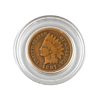 1897 Indian Head Cent - Circulated - Capsule