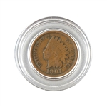 1901 Indian Head Cent - Circulated - Capsule