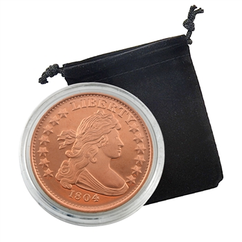 1804 Dollar - 1oz Copper Medallion - Proof Like
