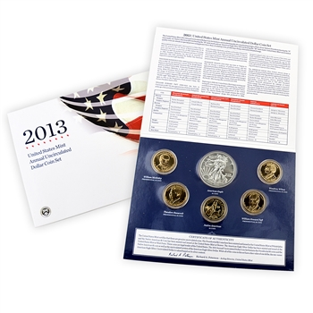 2013 U.S. Mint Uncirculated Dollar Coin Set - 6pc – OGP