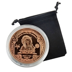 1899 $5 Indian Chief Bank Note - 1oz Copper Medallion - Proof Like