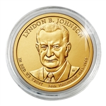 2015 Lyndon B. Johnson Presidential Dollar - Philadelphia - Capsule