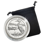 2015 Delaware Bombay Hook National Wildlife Refuge National Park - Denver - Platinum Plated in Capsule