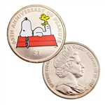 2015 BVI 65th Anniversary of Peanuts - Colorized - Uncirculated