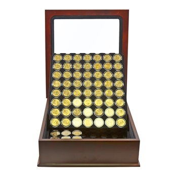 1999-2016 State Quarter 24k Gold Set with Glass Top Display
