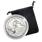 2015 New York Saratoga National Historical Park - Denver - Platinum Plated in Capsule