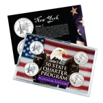 New York Series 1 & 2 - Four Piece Quarter Set - Platinum Plated