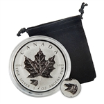 2016 Canadian Maple Leaf with Grizzly Privy- 1 oz. Silver - Reverse Proof
