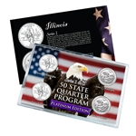 Illinois Series 1 & 2 - Four Piece Quarter Set - Platinum