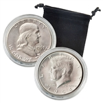 90% Silver Half Dollar Combo - 1963 Franklin & 1964 Kennedy - Uncirculated