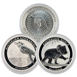 2016 1 oz Silver Down Under Trio - Kangaroo-Kookaburra-Koala