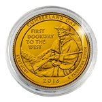 2016 Cumberland Gap Nat'l Historical Park - Philadelphia - Gold Plated in Capsule