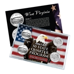 West Virginia Series 1 & 2 - Four Piece Quarter Set - Uncirculated