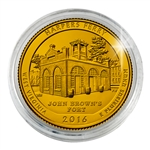2016 Harpers Ferry Nat'l Historical Park - Denver - Gold Plated in Capsule