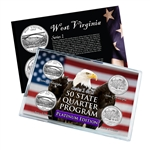 West Virginia Series 1 & 2 - Four Piece Quarter Set - Platinum