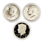 2016 Kennedy Half Dollar - Philadelphia - Denver - San Francisco - 3pc Set