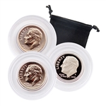 2016 Roosevelt Dime - Philadelphia, Denver & San Francisco 3pc Set