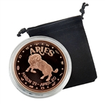Aries - Zodiac 1 oz Copper Poof - March 21 to April 20