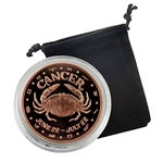 Cancer - Zodiac 1 oz Copper Proof - June 22 to July 22