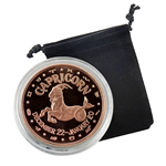 Capricorn - Zodiac 1 oz Copper Proof - Dec 22 to Jan 20