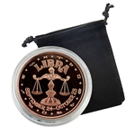 Libra - Zodiac 1 oz Copper Proof - Sept 24 to Oct 23
