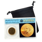 Presidential Golden Dollar Blank - Uncirculated - Global Holder