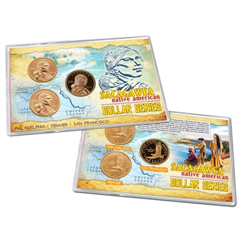 2000 Sacagawea Gold Dollar 3pc Lens Set - PDS
